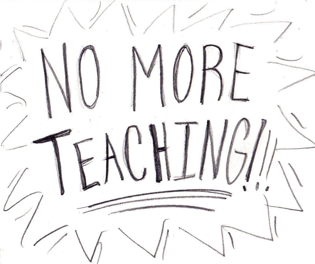 no more teaching copy